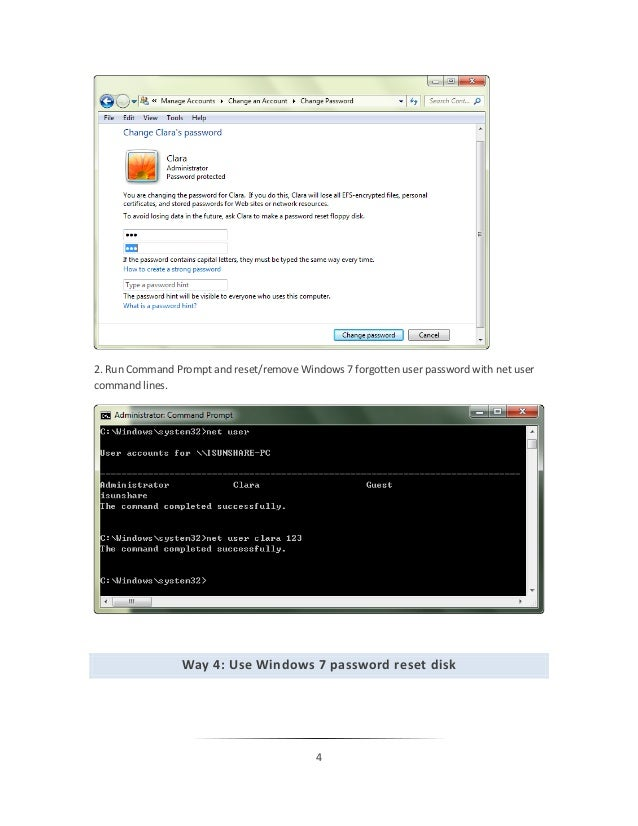 Forgot My Windows 7 Login Password, How to Recover It?