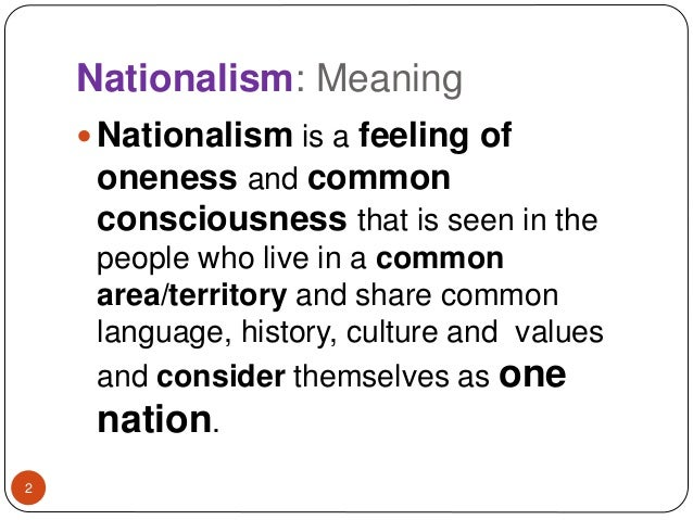 Simple Definition Of Nationalism