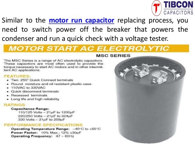 Air Conditioning Capacitors | Motor Run Capacitors | Start