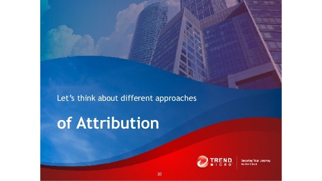 of Attribution Let's think about different approaches 20