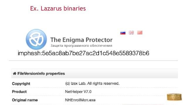 Ex. Lazarus binaries 23