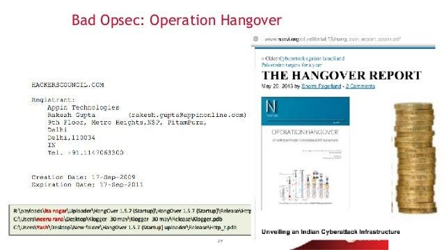 Bad Opsec: Operation Hangover 39