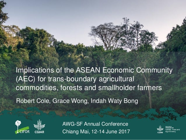Implications of the ASEAN Economic Community (AEC) for trans-boundary agricultural commodities, forests and smallholder fa...