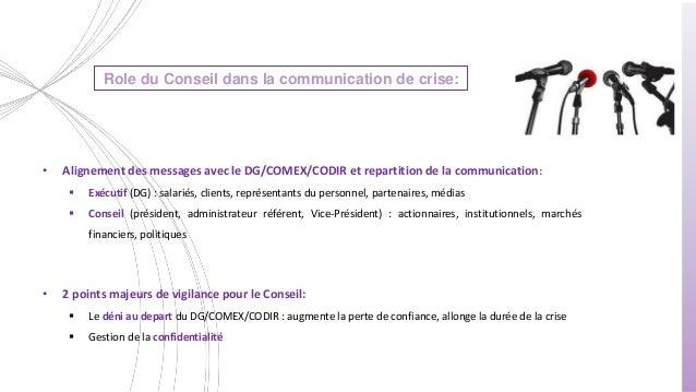 Role Du Conseil D Administration En Situation De Crise