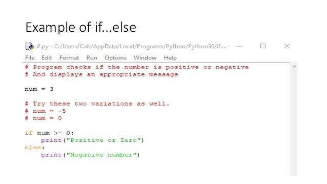 Python Flow Control