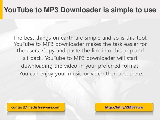Meet the best free YouTube to MP3 downloader!