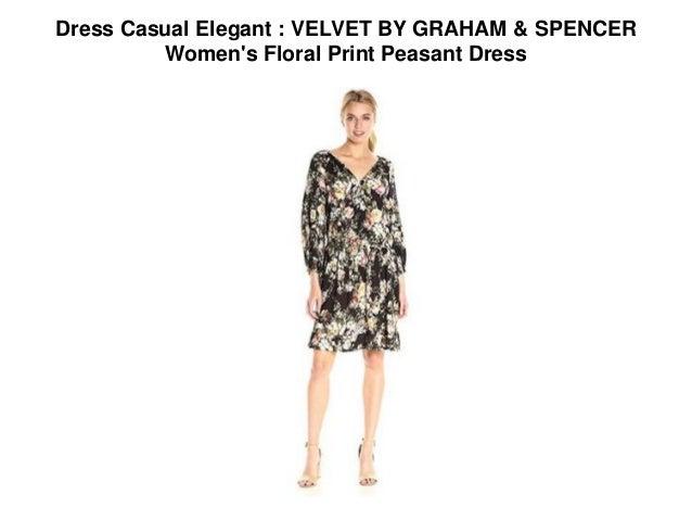 Dress Casual Elegant Velvet By Graham Spencer Women S Floral Prin