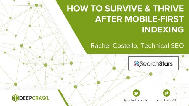 Separate mobile sites: the mobile URL is used for indexing. @rachellcostello searchstarsSE