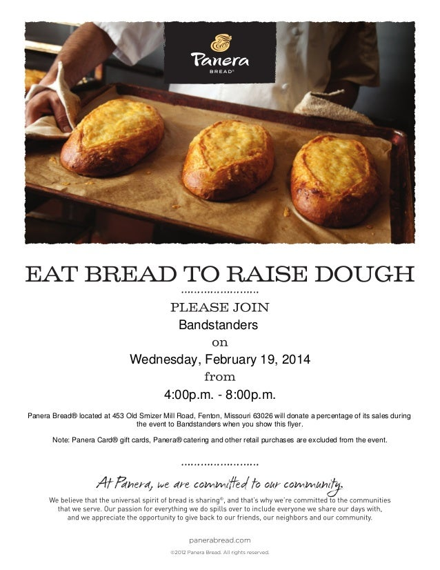Bandstanders Wednesday, February 19, 2014 4:00p.m. - 8:00p.m. Panera Bread® located at 453 Old Smizer Mill Road, Fenton, M...