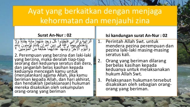 Bab 11 Menjaga Kehormatan Manusia Dengan Menjauhi Zina