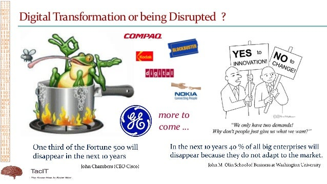 Digital Transformationor being Disrupted ? more to come …
