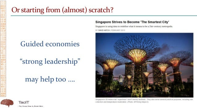 """Orstarting from (almost) scratch? Guided economies """"strong leadership"""" may help too …."""