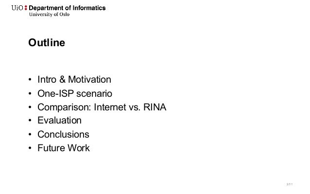 First Contact: Can Switching to RINA save the Internet? Slide 2