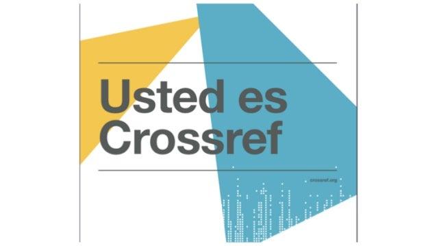Registro y actualización de contenido en Crossref