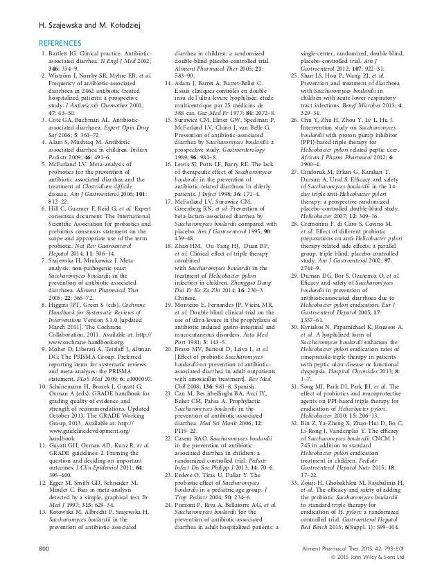 REFERENCES 1. Bartlett JG. Clinical practice. Antibiotic- associated diarrhea. N Engl J Med 2002; 346: 334–9. 2. Wistr€om ...
