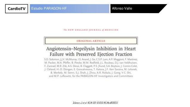 Alfonso Valle Solomon JJ et al. NEJM. DOI: 10.1056/NEJMoa1908655 Estudio PARAGON-HF