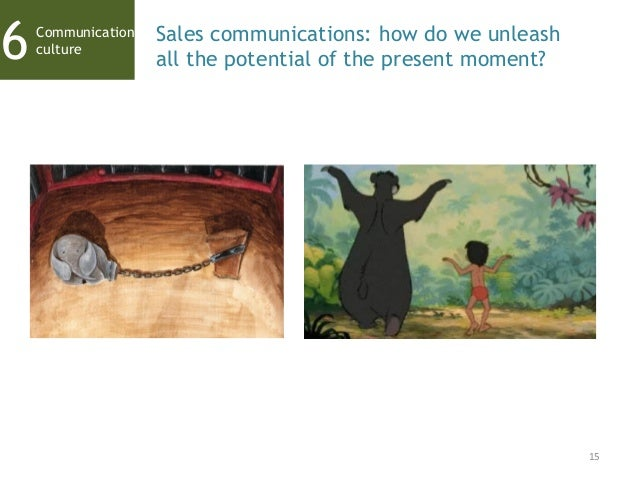 15 Communication culture6 Sales communications: how do we unleash all the potential of the present moment?