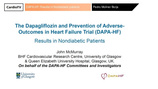 DAPA-HF: Results in Nondiabetic patients Pedro Moliner Borja