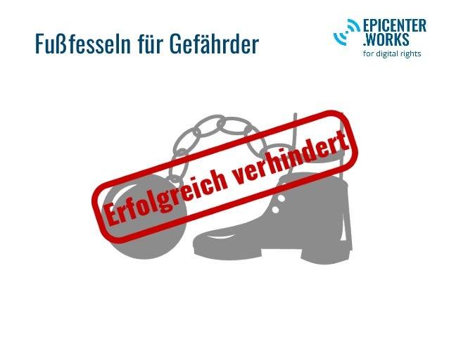 Fußfesseln für Gefährder