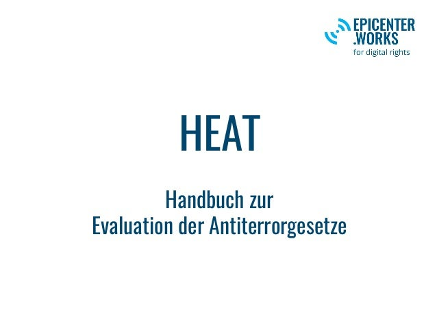 HEAT Handbuch zur Evaluation der Antiterrorgesetze