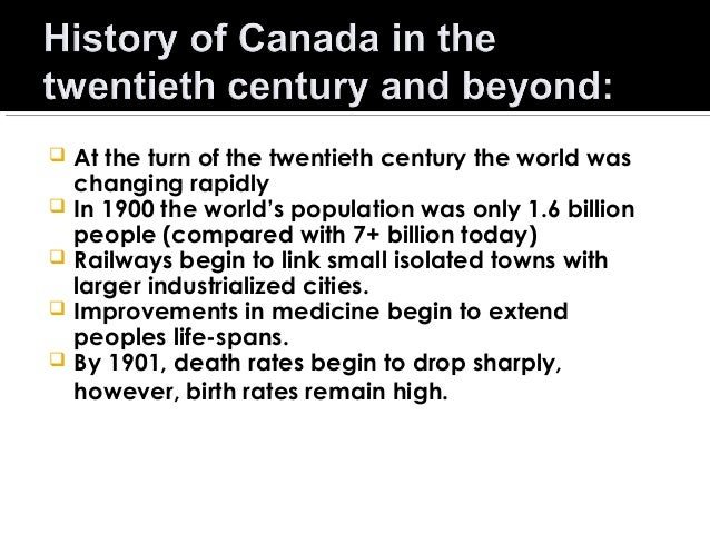       At the turn of the twentieth century the world was changing rapidly In 1900 the world's population was only 1.6...