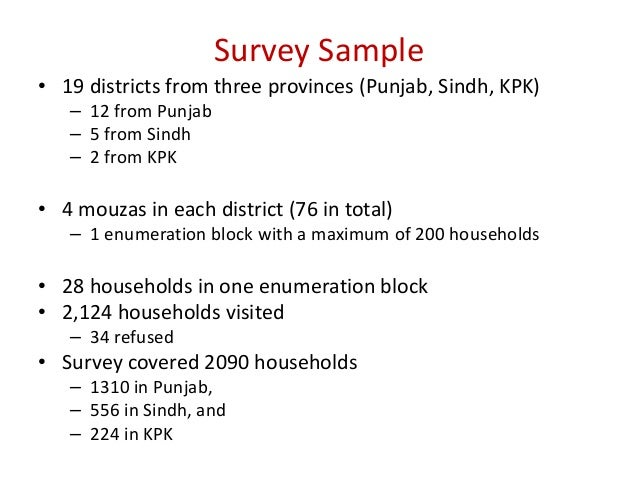 Pakistan Rural Household Survey Overview and Highlights by Hina Nazli…