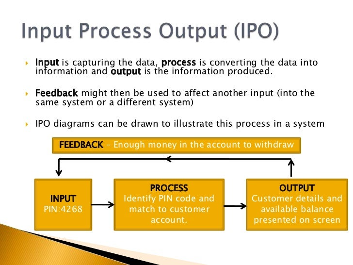 ict input and output