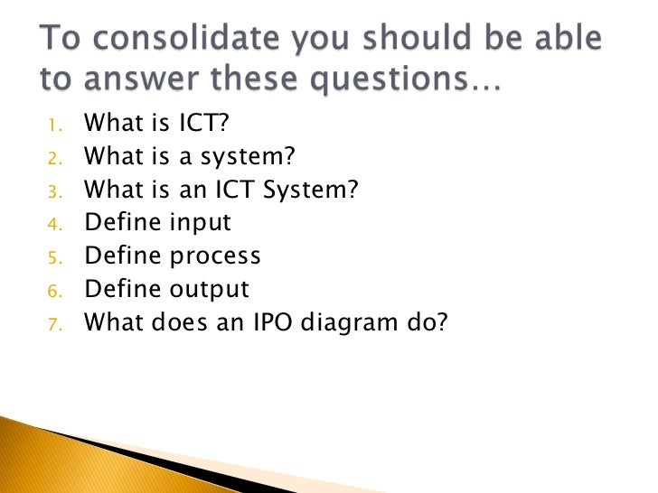 what is an ict system
