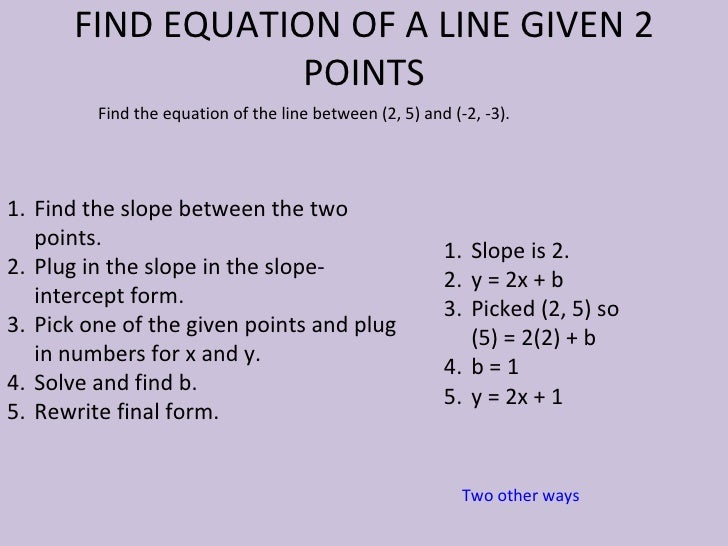 22 Linear Equations And 23 Slope