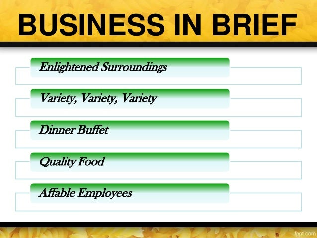 organic restaurant business plan ppt