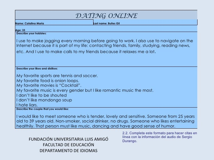 dating profile form But for fields such as 'likes', 'dislikes', 'hobbies'- which are expected on a dating website, you'll have to use a plugin to extend user profile fields you'll need this based on the fields you include in your form, and the weights provided, a custom algorithm would need to be built for your dating website.