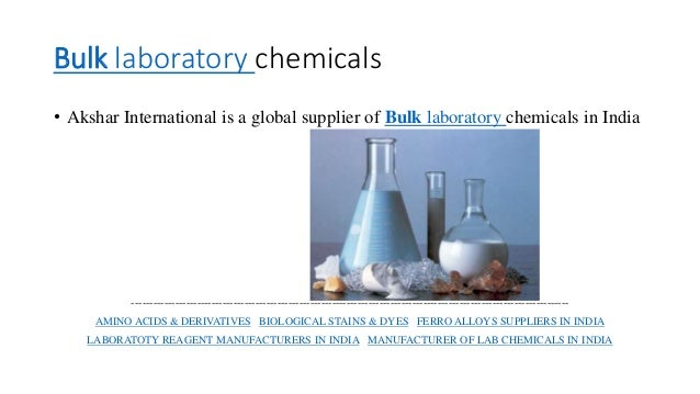 LAB CHEMICAL SUPPLIERS IN INDIA