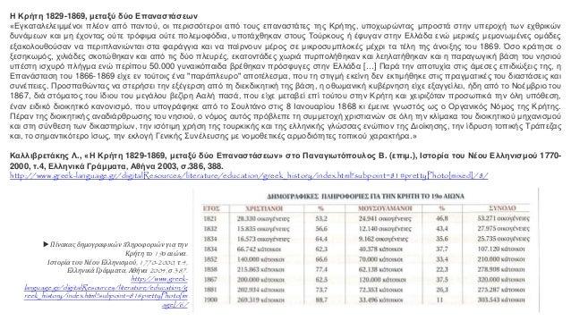 Η Κρήτη 1829-1869, μεταξύ δύο Επαναστάσεων «Εγκαταλελειμμένοι πλέον από παντού, οι περισσότεροι από τους επαναστάτες της Κ...