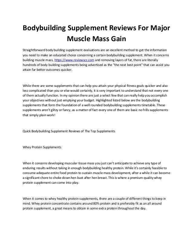 Bodybuilding Supplement Reviews For Major Muscle Mass Gain Straightforward body building supplement evaluations are an exc...
