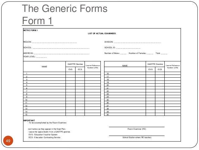2013 ncae test admin guidelines-dr. fernandez