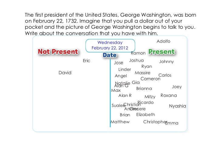 The first president of the United States, George Washington, was bornon February 22, 1732. Imagine that you pull a dollar ...