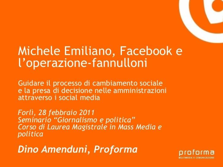 Strategia di comunicazione Gianni Florido e la Provincia di Taranto Michele Emiliano, Facebook e  l'operazione-fannulloni ...