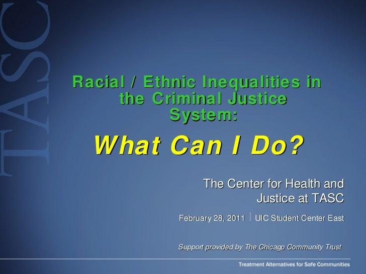 <ul><li>Racial / Ethnic Inequalities in the Criminal Justice System: </li></ul><ul><li>What Can I Do? </li></ul>The Center...