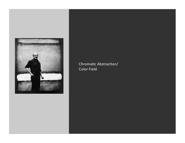 Chromac Abstracon/ Color Field