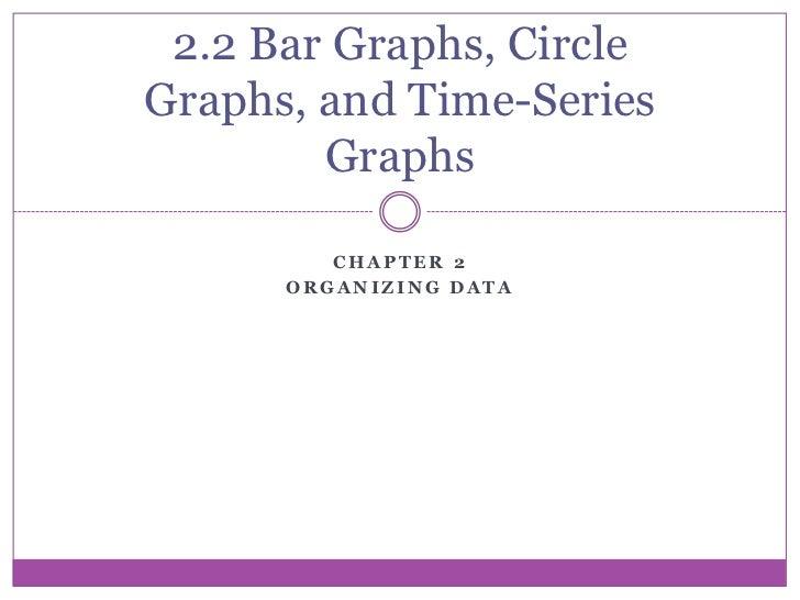 2.2 Bar Graphs, CircleGraphs, and Time-Series        Graphs         CHAPTER 2      ORGANIZING DATA
