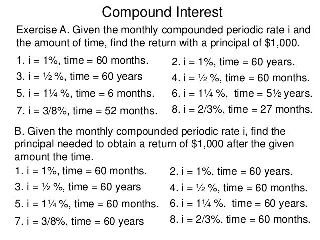 compound interest how to find n
