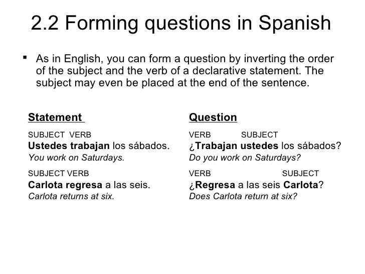 spanish homework vista