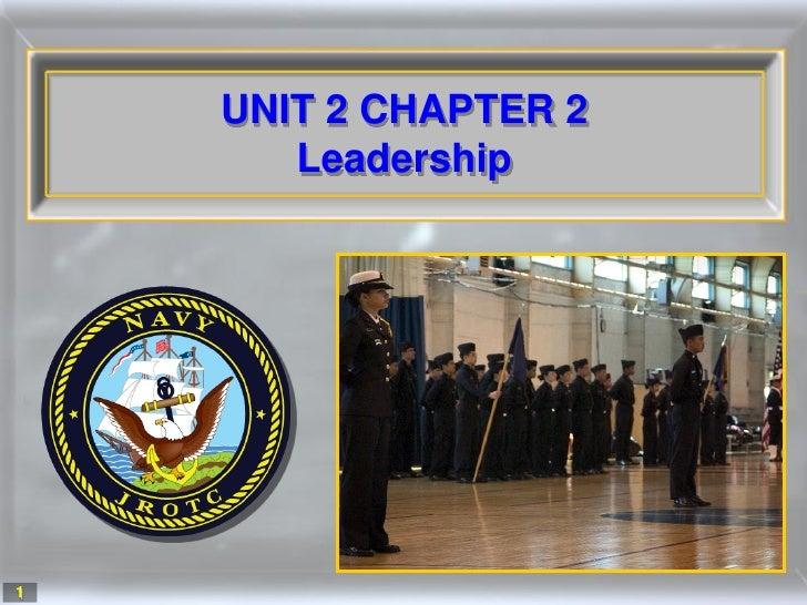 UNIT 2 CHAPTER 2        Leadership     1