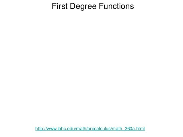 Notation and Algebra of Functions http://www.lahc.edu/math/precalculus/math_260a.html