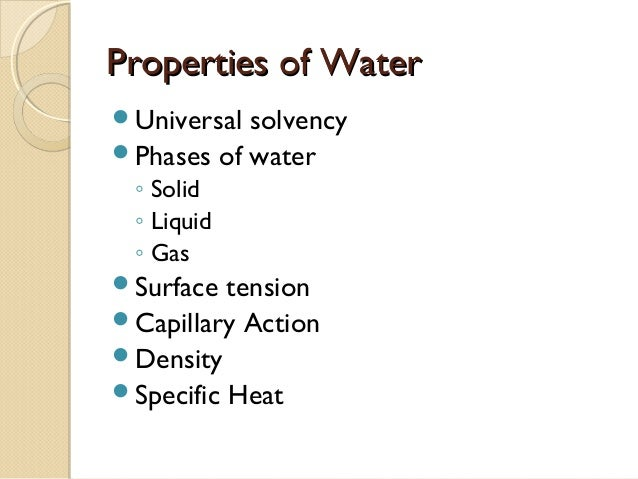 the unique properties of water necessary for the life to exist on earth 2 chemistry of life 21 atoms water's unique properties allow life to exist on earth are necessary for every muscle movement in your body.