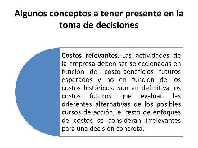 Algunos conceptos a tener presente en latoma de decisiones
