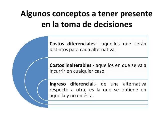 Algunos conceptos a tener presenteen la toma de decisiones