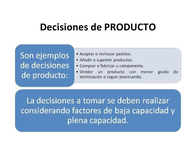 Decisiones de PRODUCTO