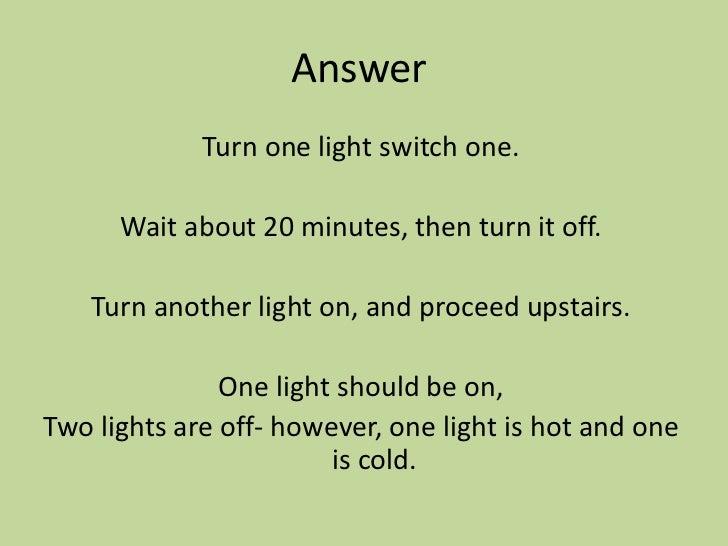 Deductive Reasoning Law Of Detachment Logic Puzzles - 3 Light Switch Logic Problem