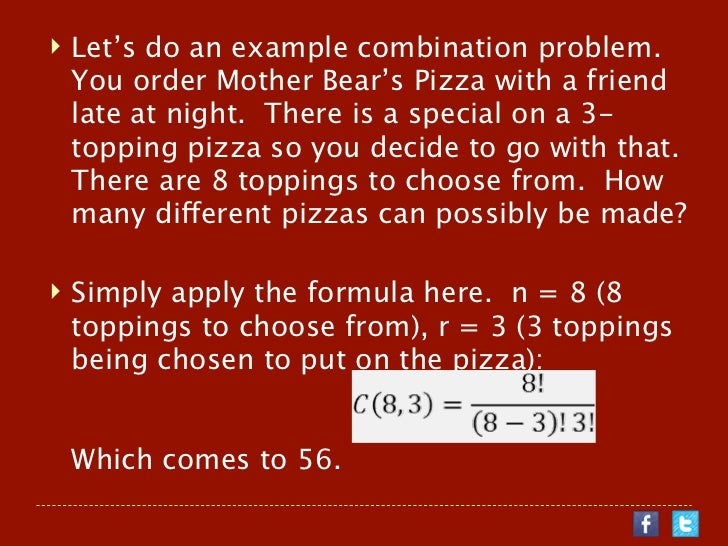 dictionary problem in permutation and combination